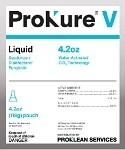 Prokure V 25 Gallon Liquid Disinfectant,  Case of 12,  4.20 oz Pouch